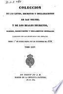 Colección de las Leyes, Decretos y Declaraciones de las Cortes y de los Reales Decretos