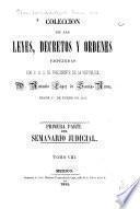 Colección de las leyes, decretos y órdenes expedidas por el Congreso nacional y por el supremo gobierno en el año de 1850