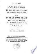 Colección de las obras sueltas, assí en prosa como en verso