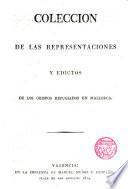 Colección de las representaciones y escritos de los obispos refugiados en Mallorca