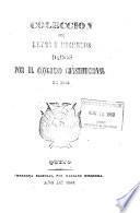 Coleccion de leyes decretos dados por el Congreso constitucional de 1863