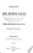 Colección de leyes, decretos, ordenes y demás disposiciones de tendencia general