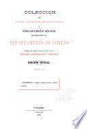 Colección de leyes, decretos, resoluciones i otros documentos oficiales referentes al departamento de Loreto [1777-1908]