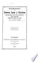 Colección de leyes, decretos y circulares