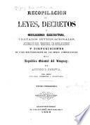 Colección de leyes, decretos y disposiciones de carácter permanente de la República Oriental del Uruguay