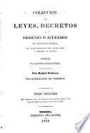 Colección de leyes, decretos y ordenes o acuerdos de tendencia general del poder legislativo del estado libre y soberano de Yucatan, 1832-[1850].