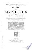 Colección de leyes usuales de la provincia de Buenos Aires
