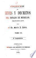 Colección de leyes y decretos del estado de Morelos