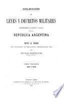 Colección de leyes y decretos militares concernientes al ejército y armada de la República Argentina