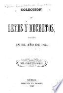 Coleccion de leyes y decretos, publicados en el año de 1839[-41, 1844-48, 1850]
