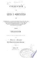 Colección de leyes y ordenanzas
