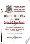Colección de libros y documentos referentes a la historia del Peru