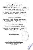 Colección de los apologistas antiguos de la religión christiana ...