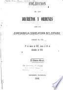 Coleccion de los decretos y ordenes