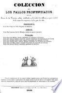 Colección de los fallos pronunciados por una sección de la Comisión militar establecida en la ciudad de Matanzas para convocer de la causa de conspiración de la gente de color, etc