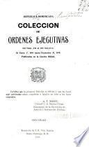 Colección de ordenes ejecutivas