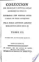 Coleccion de poesias castellanas anteriores al siglo XV, 3