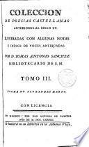 Colección de poesias castellanas anteriores al siglo XV
