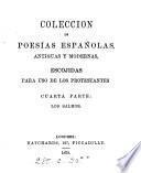Colección de poesías españolas antiguas y modernas, escojidas para uso de los Protestantes