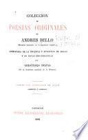 Colección de poesías originales de Andrés Bello ...