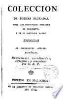 Colección de poesías sagradas sobre los principales misterios de Jesucristo,y de su Santísima Madre