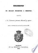 Colección de Reales Decretos y Ordenes relativas a la Instrucción primaria elemental y superior