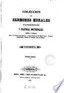 Colección de sermones morales, panegíricos y pláticas doctrinales, 1