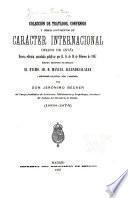 Colección de tratados, convenios y demás documentos de carácter internacional firmados por España