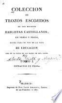 Coleccion de trozos escojidos de los mejores hablistas castellanos