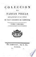 Coleccion de varias piezas relativas a la obra de Fray Gerundio de Campazas