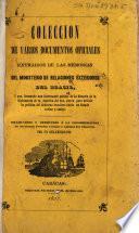 Coleccion de varios documentos oficiales extraidos de las memorias del Ministerio de relaciones exteriores del Brasil
