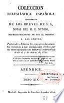 Coleccion eclesiastica española