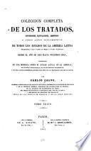 Colección histórica completa de los tratados: 1815-1826