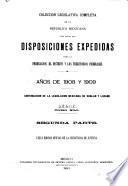 Coleccion legislativa completa de la Republica Mexicana con todas las disposiciones expedidas para la Federacion, el Distrito y los territorios federales