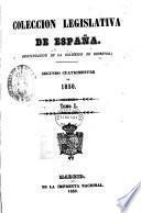 Coleccion Legislativa De Espana 1850