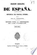 COLECCION LEGISLATIVA DE ESPANA.