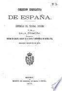COLECCION LEGISLATIVA DE ESPANA. SENTENCIAS DEL TRIBUNAL SUPREMO EN SU SALA PRIMERA