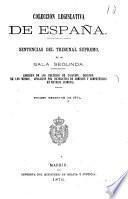 coleccion legislativa de espana sentencias del tribunal supremo