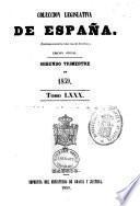 COLECCION LEGISLATIVA DE ESPANA.  TOMO LXXX.