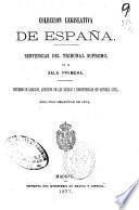 coleccion legislative de espana. sentencias del tribunal supremo, en su sala primera