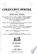 Colección oficial del año de 1858