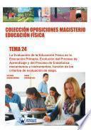 Colección Oposiciones Magisterio Educación Física. Tema 24
