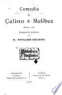 Comedia de Calisto y Melibea (Burgos, 1499)