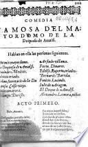 Comedia famosa del Mayordomo de la Duquesa de Amalfi