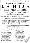 Comedia famosa: La Hija del Mesonero