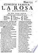 Comedia famosa, La Rosa de Alexandria