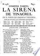 Comedia Famosa. La Sirena De Tinacria