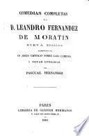 Comedias de d. Leandro Fernández de Moratín