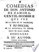 Comedias de Don Antonio de Zamora...