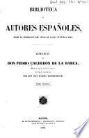 Comedias de Don Pedro Calderon de la Barca